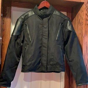 Unik canvas and leather riding jacket